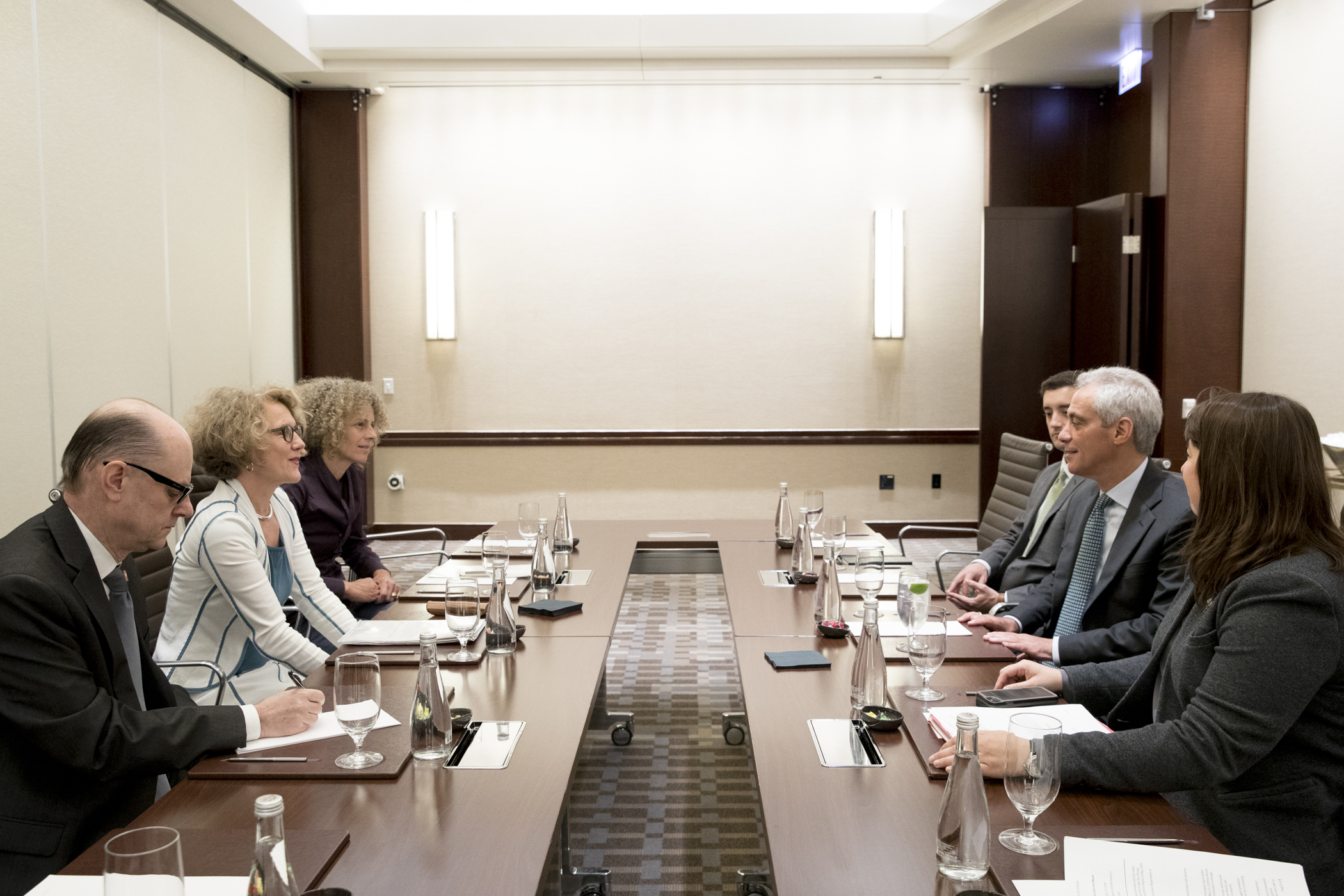 Bilateral meeting between Zurich Mayor Corine Mauch and Mayor Rahm Emanuel in Chicago