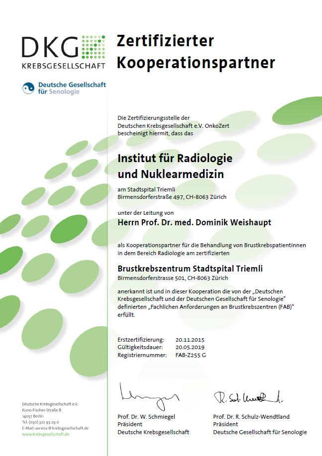 Zertifizierungen – Stadtspital Triemli Zürich