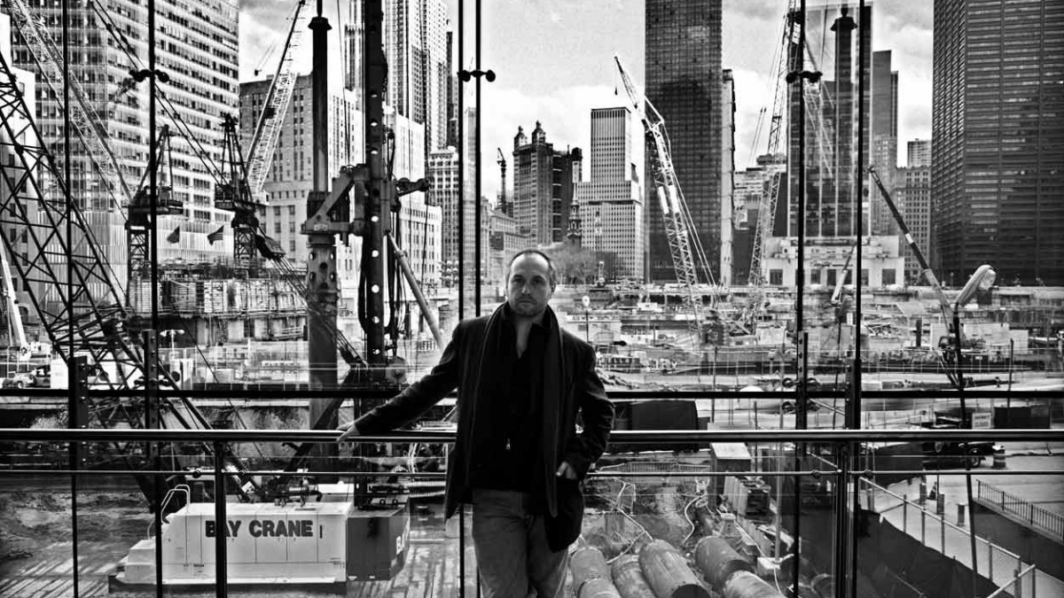 Colum McCann, Ground Zero, New York, USA, fotografiert von Tobias Wenzel