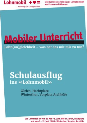 Cover Flyer «Schulausflug ins Lohnmobil»